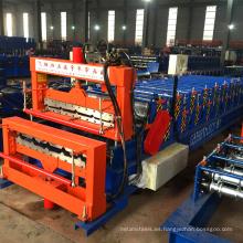 hebei xinnuo doble capa 840 + 900 hojas de metal trapezoidal que forman las máquinas
