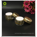 best selling face care cream cosmetic container gold plastic jar
