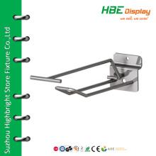 Single Prong Slatwall panel Hook with Overarm