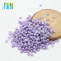 Vente chaude Mode ABS Plat Dos Demi Taille Perles Craft Perles en vrac pour la Fabrication de Bijoux, Z27-Violet