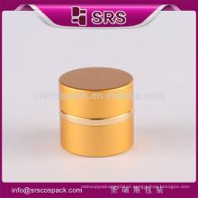 50ml recipiente de cuidados com a pele e vaso de vidro redondo pot 7ml 15ml 20ml 30ml alumínio parafuso tampa frasco
