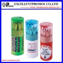 Lápis de madeira de 12PCS Hb no tubo de papel de Kraft ajustado (EP-P9076)