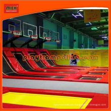 Folding Birthday Party Fitness Trampoline with Basketball