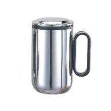 Stainless Steel Double Wall Mug with Tea Strainer 550ml