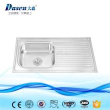 Pia de cozinha moldada em aço inoxidável com placa fabricante Foshan