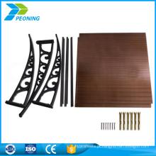 Folha de PVC convencional de 6 mm de espessura Folha de policarbonato de revestimento duro para antiestático