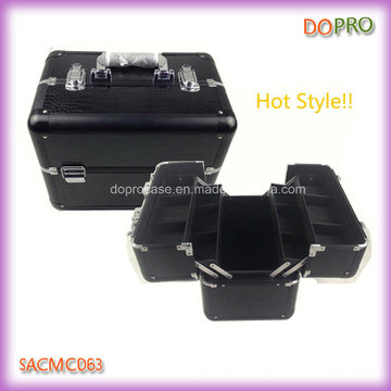 Whole Black Crocodile PVC Makeup/Cosmetic/Beauty Case (SACMC063)
