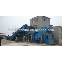 Horizontal scrap car shredding machine