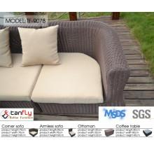 Outdoor garden furniture luxury rattan furniture rattan modern sofa.