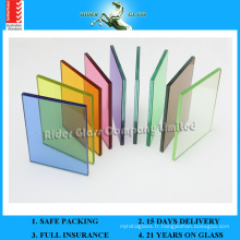 3/4/5 / 6mm + 0.38 Clear PVB + 0.38 Couleur PVB + 3/4/5 / 6mm Safety Laminated Glass