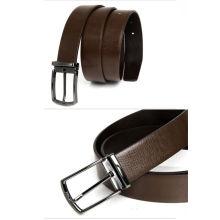 Elegant men's belt with reversible buckle leather men belts