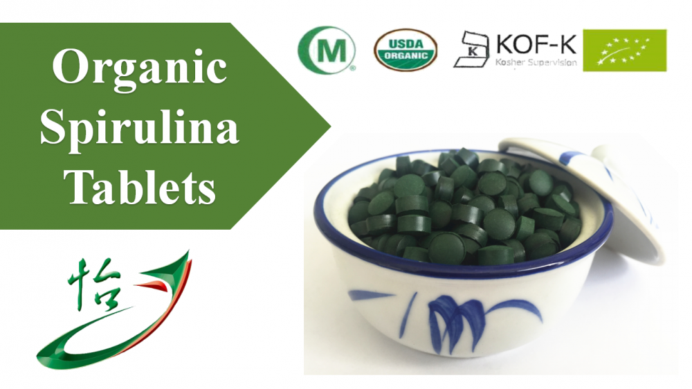Organic Spirulina Tablets Food