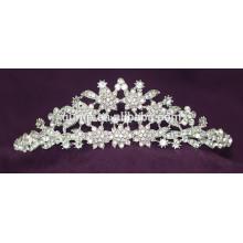 Nueva corona nupcial cristalina de la tiara de la boda del Rhinestone del diseño
