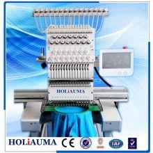 Máquina de bordar de Color Holiauma alta velocidad hermano tipo 1 cabeza 15 para tapa 3D toalla camiseta Mutil función bordado
