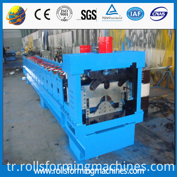 steel sheet roof ridge roll forming machine
