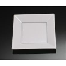 Placa de plástico descartável, Round Placa de forma quadrada Placa de prato