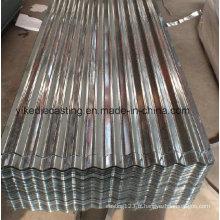 Tôles de toiture en acier ondulé de zinc-aluminium