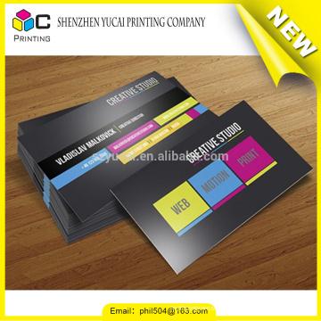 luxury silk screen embossing print recycled business card printers