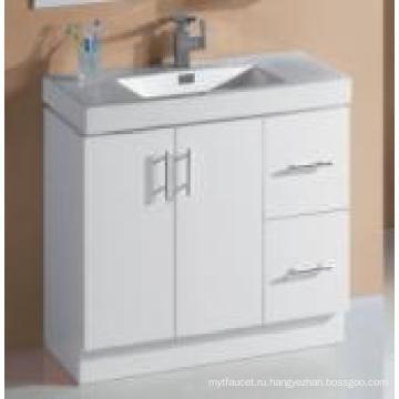 Сантехника Белый глянцевый МДФ шкаф ванной комнаты с раковиной (P6011-900Г)