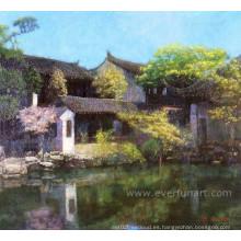 Hermosas y atractivas pinturas de la escena de la aldea (ESL-117)