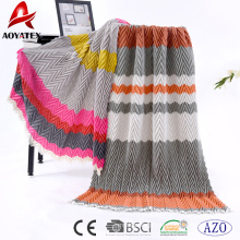 Promoção multicolor 100% acrílico cobertor
