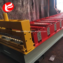 China Gold Supplier for Corrugated Roof Roll Forming Machine Corrugated roof tile sheet rolling color steel shearing making machine price export to Zimbabwe Factory