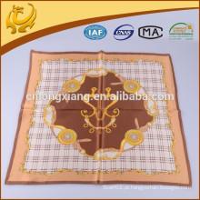 Arab New Fashion Digital Printed Style 100% Silk Square Size Scarf Indiano para Senhoras cachecol