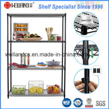 Heavy Duty Epoxy Coated Metal Adjustable Hotel Wire Shelving