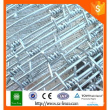 China suministra barbed wire / calibre 14 galvanizado alambre de púas / alambre de hierro galvanizado