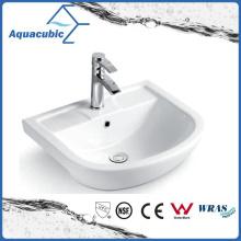 Semi-Recessed Bathroom Ceramic Cabinet Basin Hand Washing Sink (ACB8545)