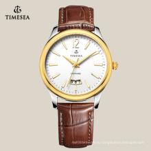 Новые популярные Кварцевые бизнес-часы с большим окном даты 72129