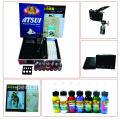 Kit de tatouage professionnel LCD Power 1 Machines Pistolets 1 poignées Aiguilles Machine Encre d'encre