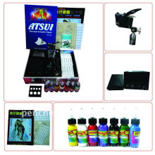 Professionelle Tattoo Kit LCD Power 1 Maschinen Guns 1 Griffe Nadeln Maschine Tinte Versorgung