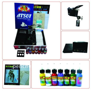 Профессиональный комплект для татуировки LCD Power 1 Machine Guns 1 Grips Needles Machine Ink Supply