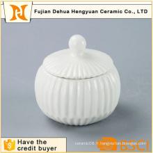 Pot de cérame blanc glacé pour décoration intérieure