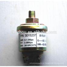 Sensor de presión de aceite eléctrico de motor diesel de camión pesado 3015237