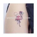 Temporary Tattoo Sticker Sheet Flamingo Bird Ladies Girls Fancy Dress Party