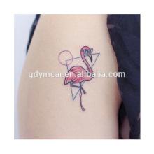 Temporäre Tattoo Aufkleber Blatt Flamingo Vogel Damen Mädchen Kostümfest