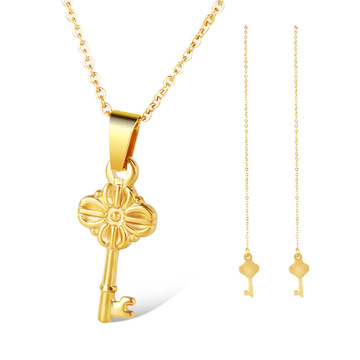 Fashion Key Shape Partihandel Zircon Smycken Set