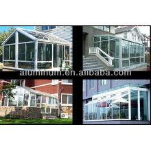 Profilés en aluminium pour la salle du soleil