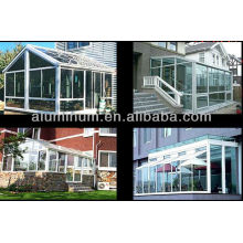 Aluminum profiles for sun room
