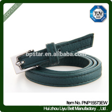 PU Belt Feminino para Mulheres Vestido Jeans Strap Cintos Skinny Fashion Green Thin Wholesale Factory