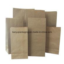 Изготовленные на заказ рекламные дешевые мелкие коричневые крафт-бумажные пакеты