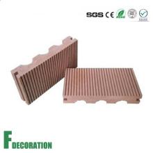 Piso al aire libre compuesto del Decking plástico plástico de madera de 140 * 23m m WPC