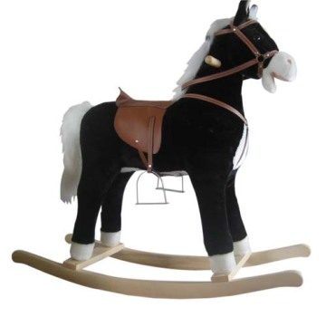 Low MOQ for Plush Rocking Horses Baby rocking horse LXRH-004 export to Chad Factory