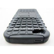 PC + híbrido Shockproof Kickstand celular em TPU para iPhone 6