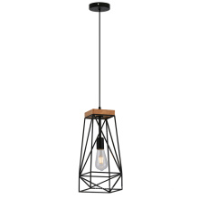 Одиночный металл Материал черный подвесной подвесной светильник