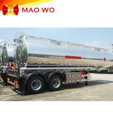 Remolque cisterna de combustible de 3 ejes de aluminio en venta