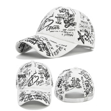 Hot-Selling Graffiti Printed Hats for Men and Women All-Match Multi-Color Painted Sun Hats Trendy Fashion Caps Baseball Hats
