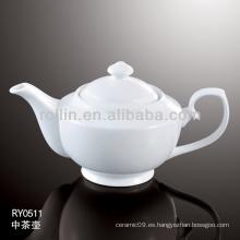 Horno de porcelana blanca duradera y durable cazuela de agua segura con tapa